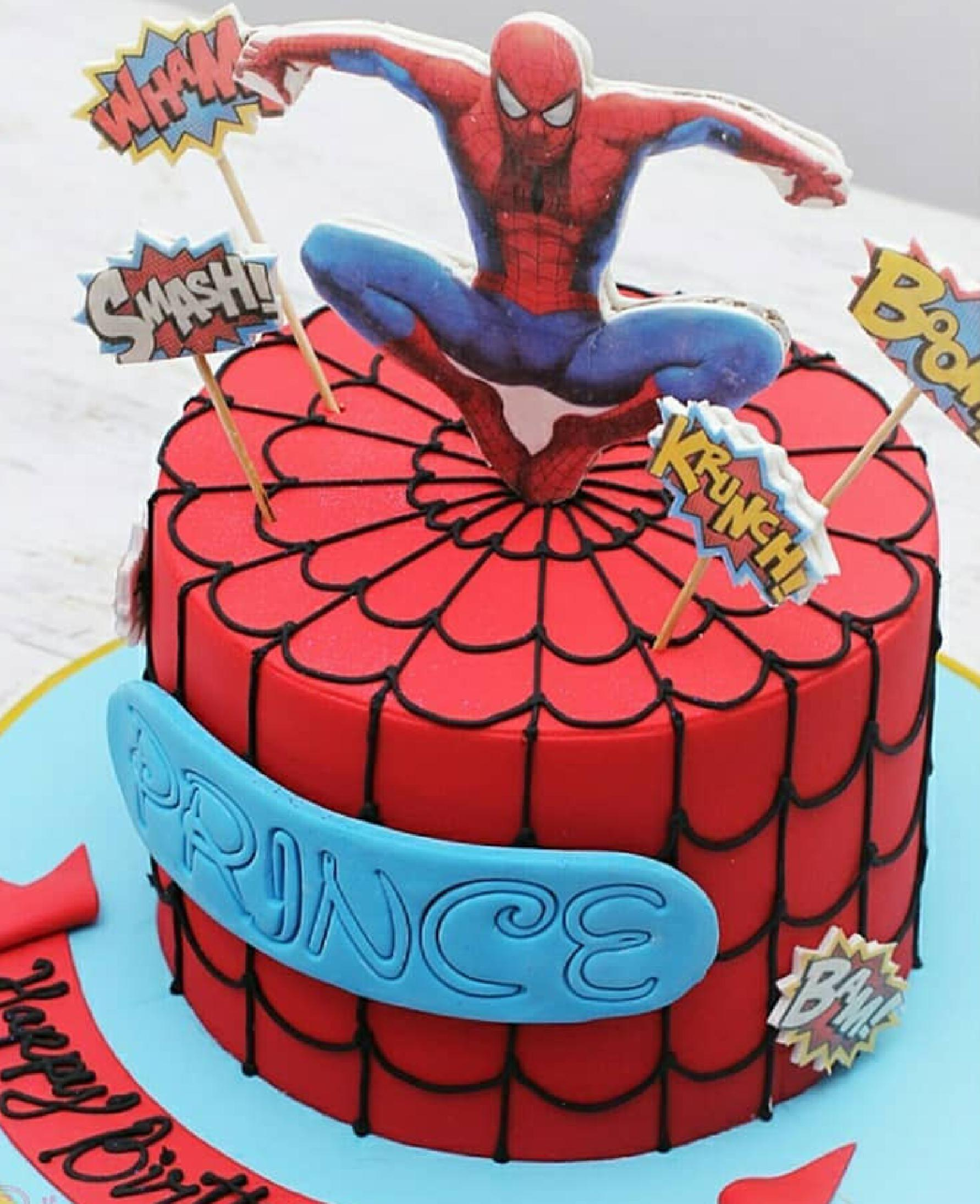 Incredible Spiderman Fondant Cake Dainty Affairs Bakery Cakes Cupcakes Funny Birthday Cards Online Elaedamsfinfo