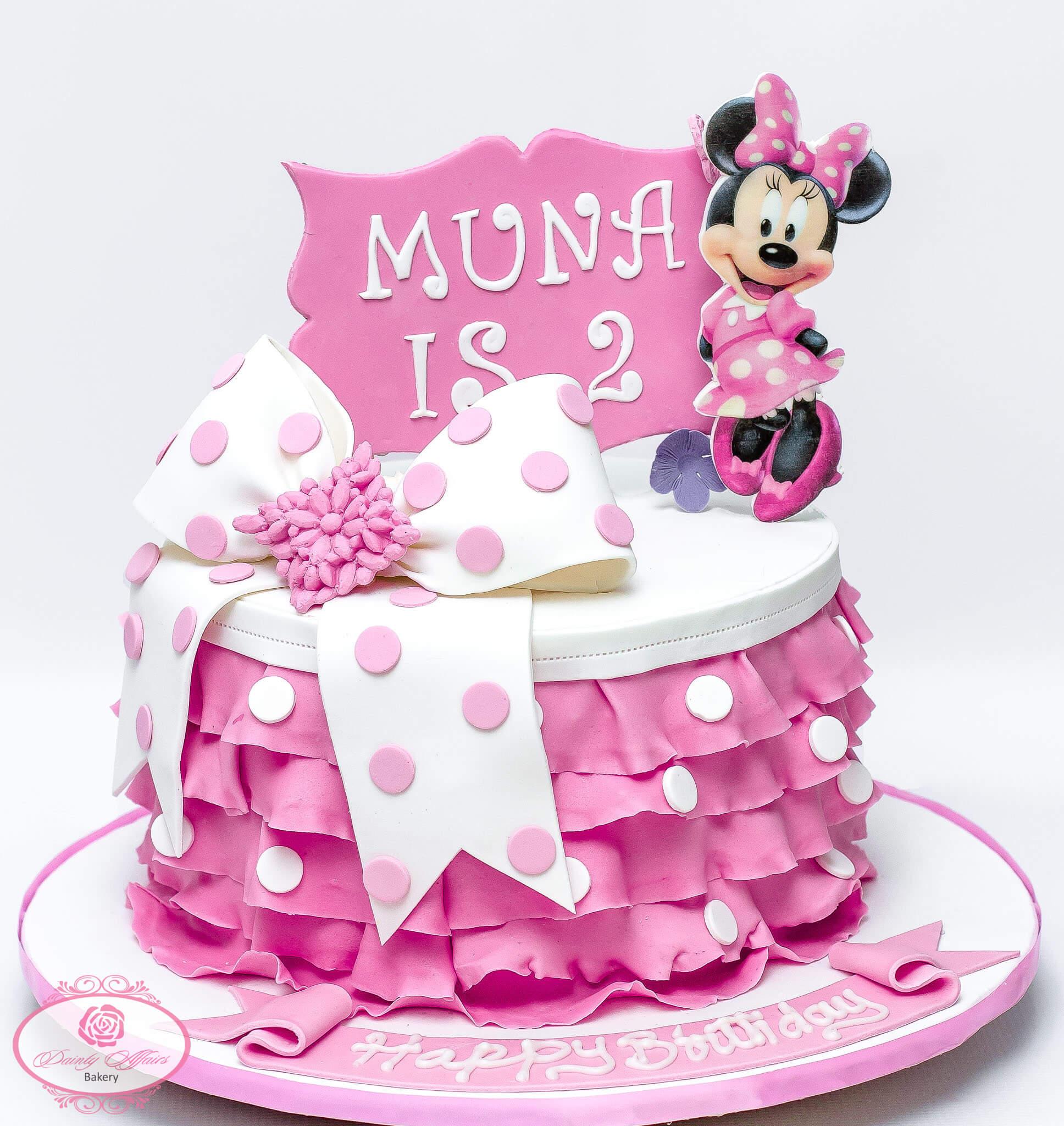 Minnie Mouse Fondant Cake Dainty Affairs Bakery Cakes Cupcakes
