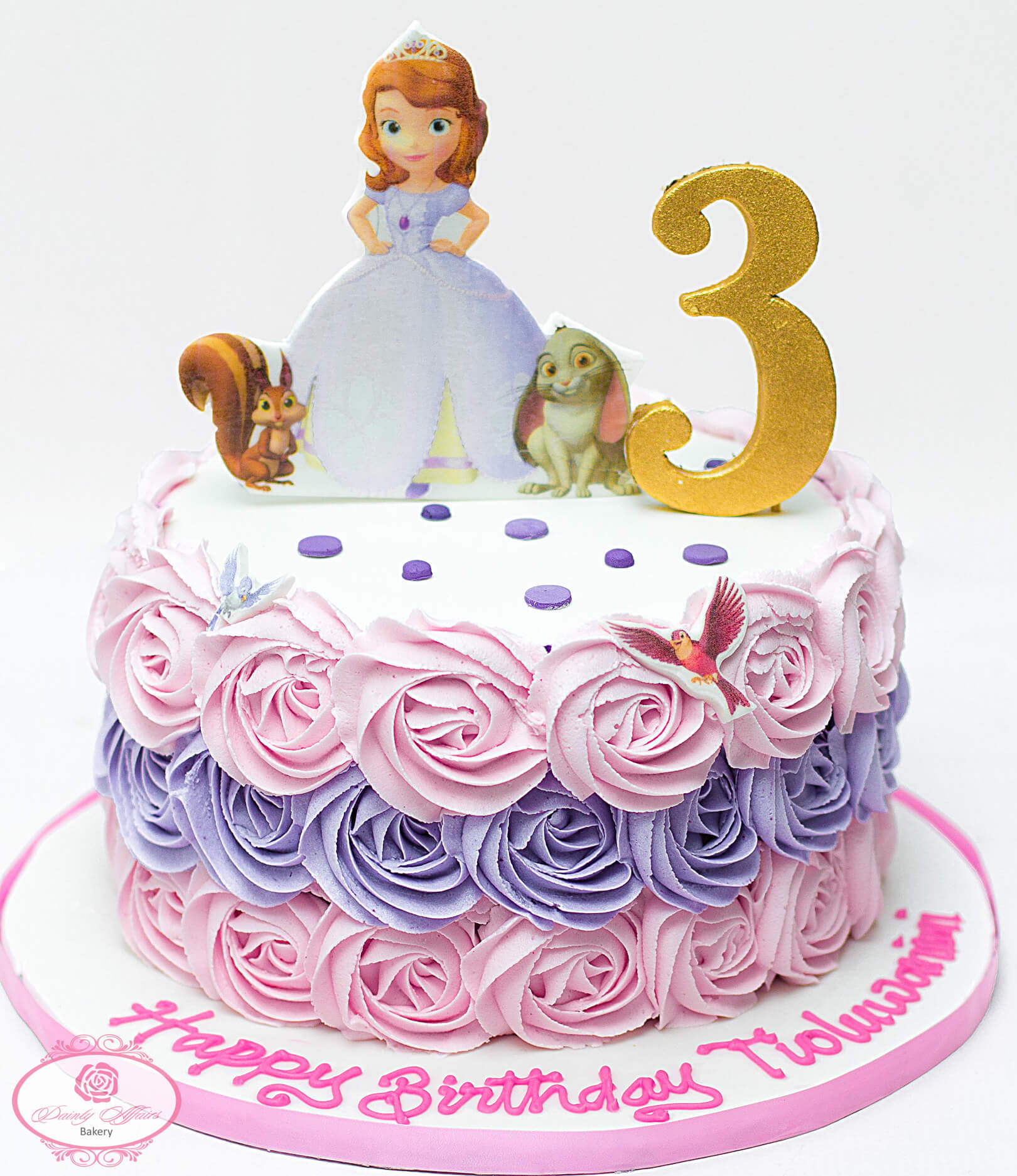 Rosette Butter Cream Character Cake Dainty Affairs Bakery Cakes