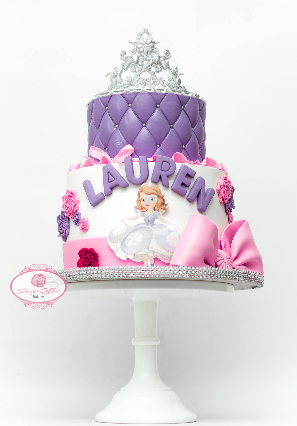 Super Sofia The First Dainty Affairs Bakery Cakes Cupcakes Funny Birthday Cards Online Aeocydamsfinfo