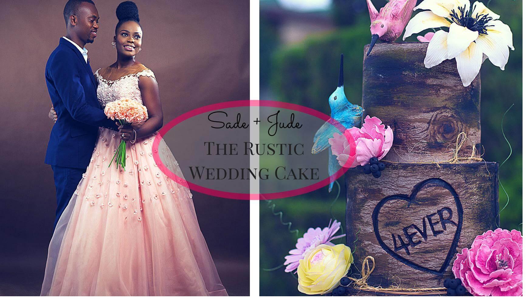 Sade + Jude's Rustic Wedding Cake