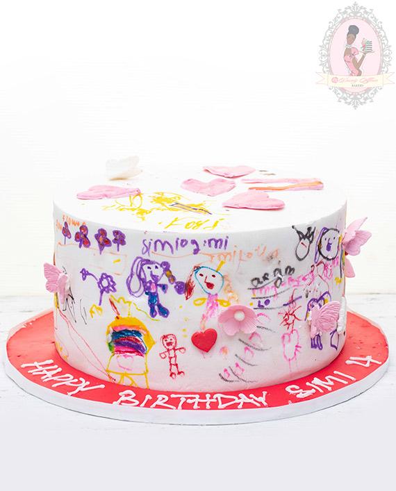 Doodle Cake Dainty Affairs Bakery