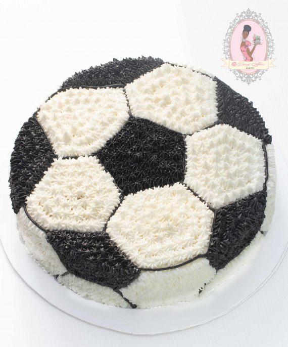 Football Buttercream cake