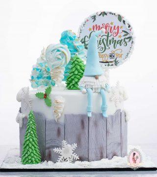 """8"""" Gnome Christmas Cake"""