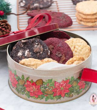Festive Cookies in Tin