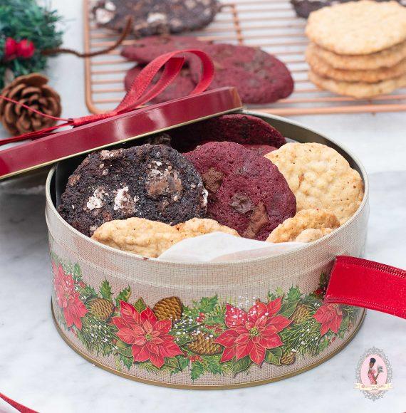 Festive Cookies in Tin