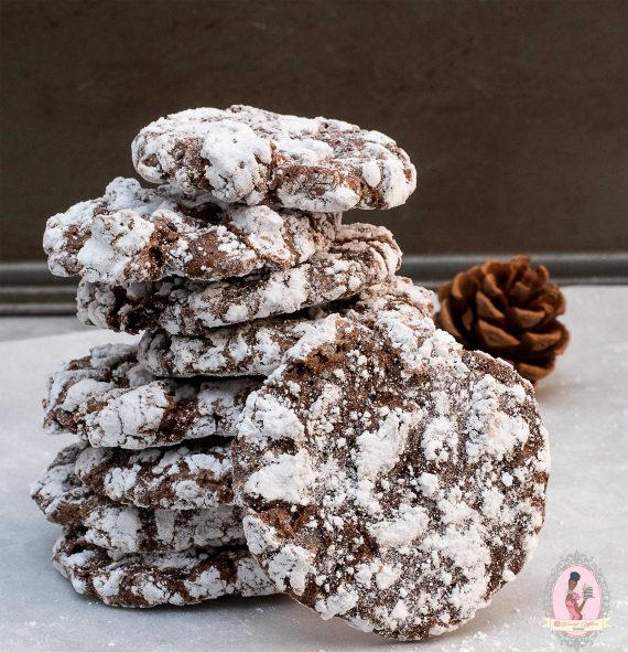 Iced Triple Chocolate Cookies
