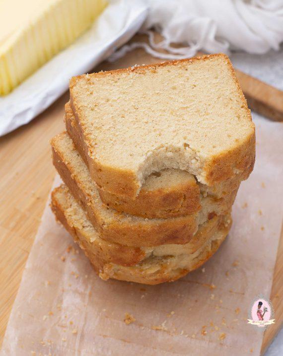 Vanilla Cake Loaf slices