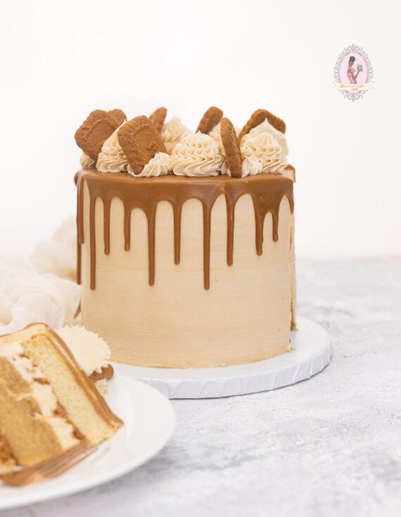 Lotus Biscoff Caramel Layer Cake