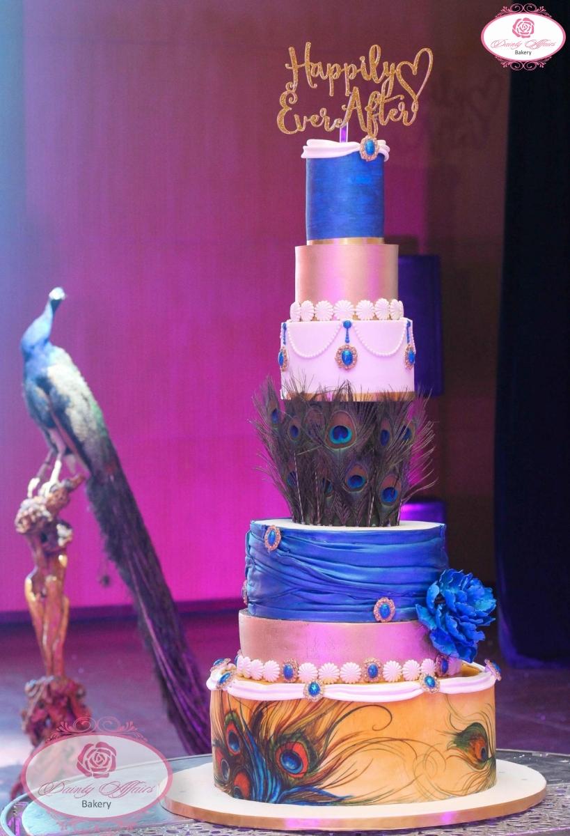 Colorful Royal Blue Wedding Cakes Frieze - Wedding Art - magodigital ...